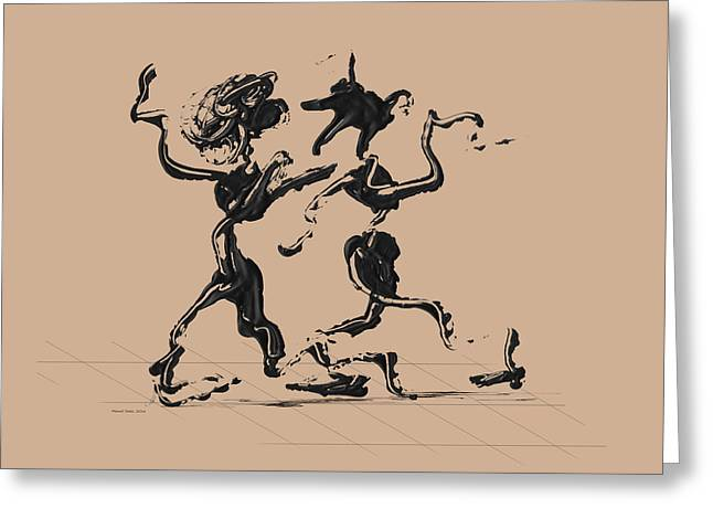 Dancing Couple 1 - Hazelnut Greeting Card by Manuel Sueess