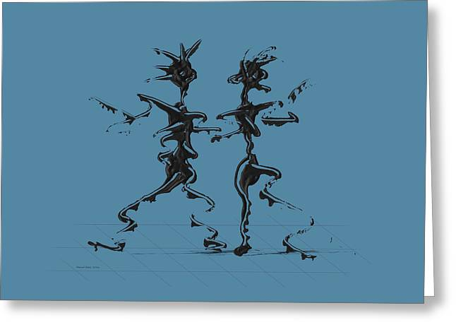 Dancing Couple 2 - Niagara Greeting Card by Manuel Sueess