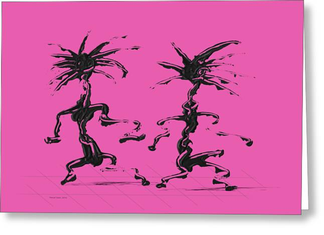Dancing Couple 5 Greeting Card