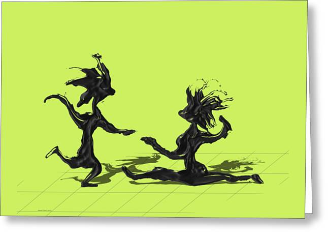 Dancing Couple 9 Greeting Card