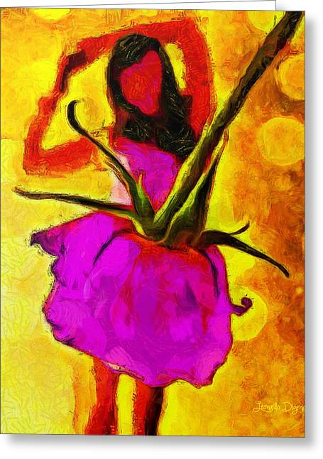 Dancing Days - Da Greeting Card by Leonardo Digenio