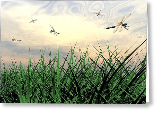 Dancing Dragonflies Greeting Card