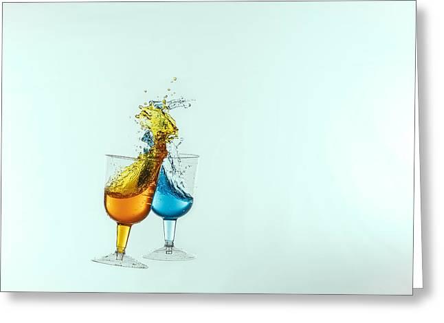 Dancing Drinks Greeting Card