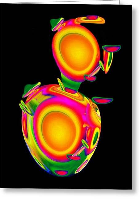 Dancing Egg Ant Greeting Card by Jacqueline Migell