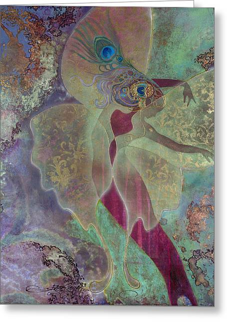 Greeting Card featuring the painting Dancing Fairy by Ragen Mendenhall
