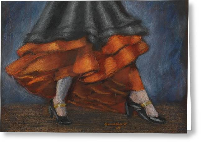 Dancing Feet Greeting Card by Quwatha Valentine
