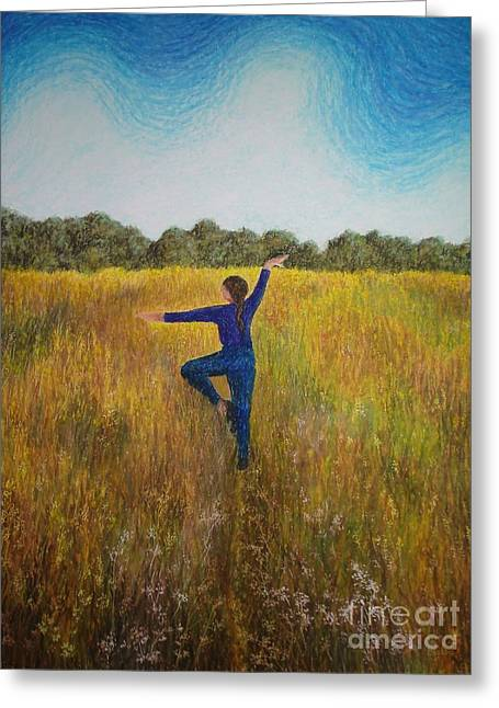 Dancing Field Greeting Card