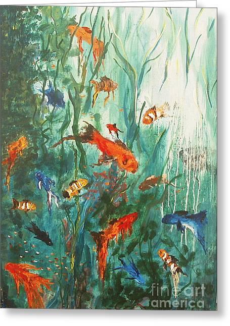Dancing Fish Greeting Card