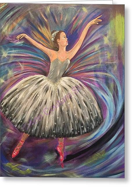 Dancing For The Limelight Greeting Card by Ann Couture Stray
