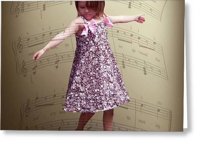 Dancing Girl Greeting Card by Brian Wallace