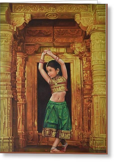 Dancing Girl Greeting Card