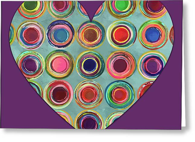Dancing In Circles Heart Greeting Card