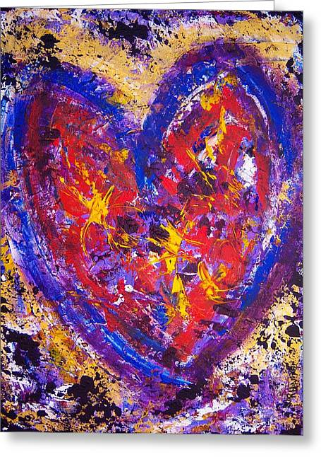 Dancing In Love Greeting Card by Rhiannon Marhi