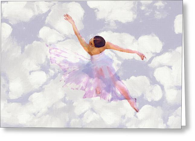 Ballet Dancers Greeting Cards - Dancing in the Clouds Greeting Card by Stefan Kuhn