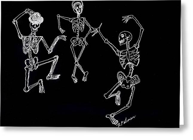 Dancing In The Dark Greeting Card