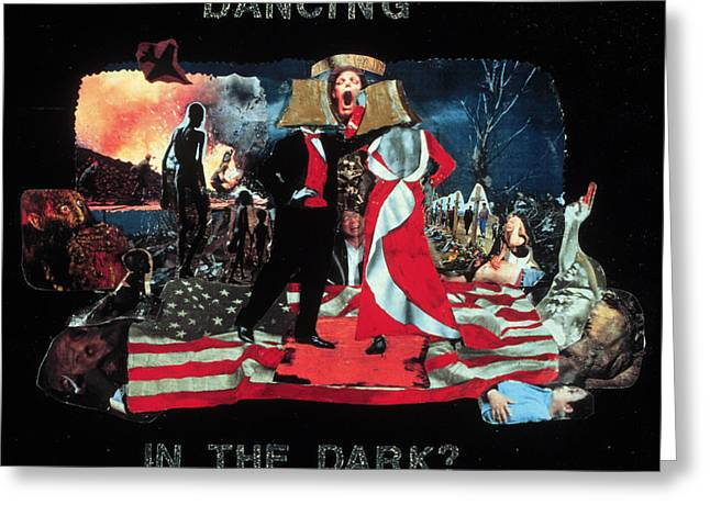 Atlantis Mixed Media Greeting Cards - Dancing in the Dark Greeting Card by Ione Citrin