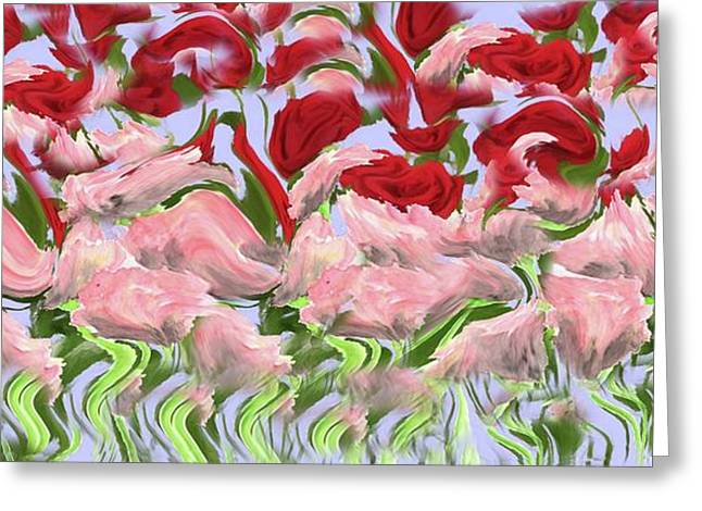 Greeting Card featuring the painting Dancing In The Garden by David Dehner