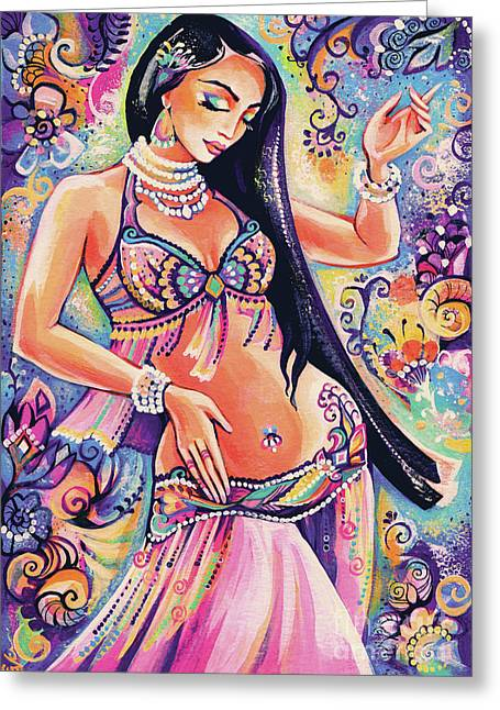 Dancing In The Mystery Of Shahrazad Greeting Card