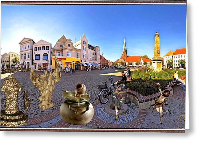 Dancing In The Square Greeting Card