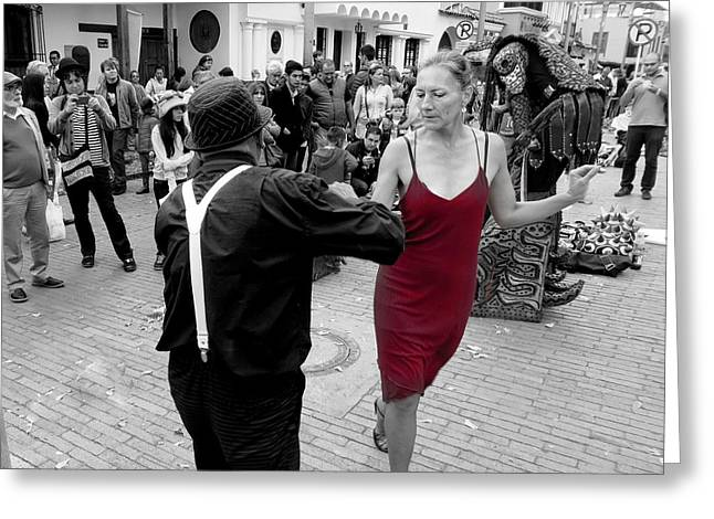 Dancing In The Street  2 Greeting Card by Daniel Gomez