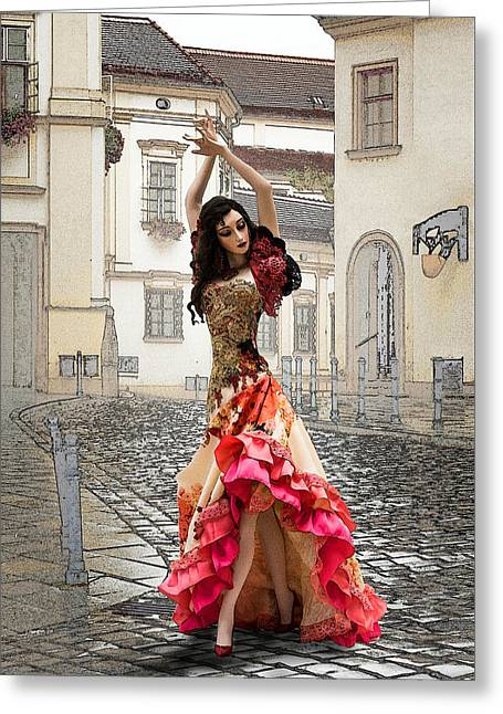 Dancing In The Street Greeting Card by Brainwave Pictures