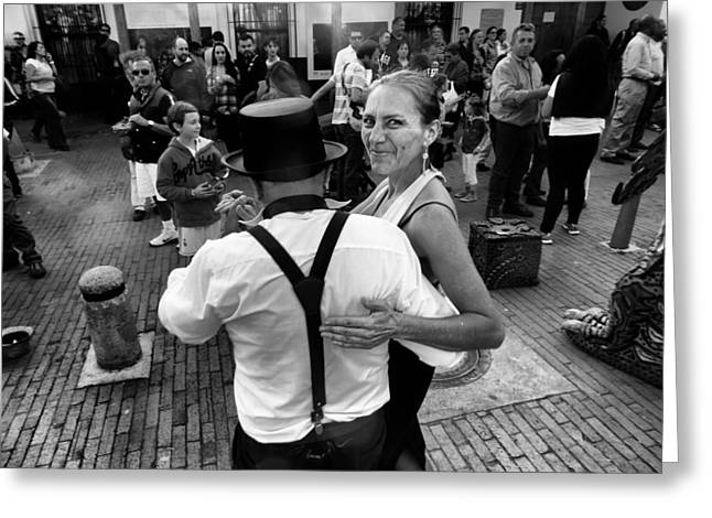 Dancing In The Street Greeting Card by Daniel Gomez