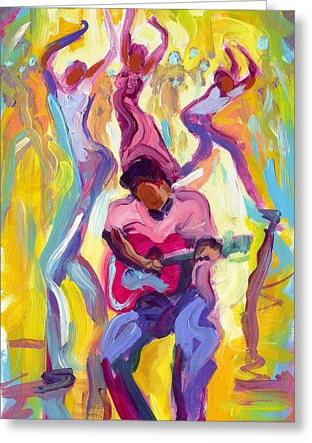 Dancing In The Streets Greeting Card by Saundra Bolen Samuel