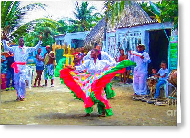 Dancing In The Streets Greeting Card