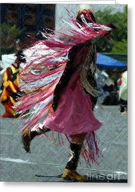 Dancing Greeting Card by Kathleen Struckle