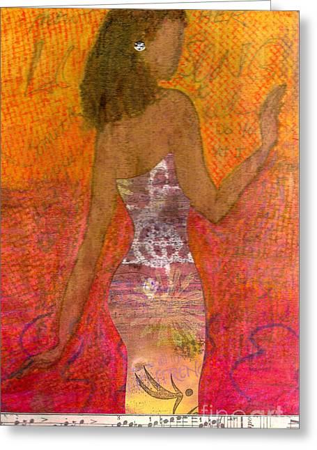 Dancing Lady Greeting Card by Angela L Walker