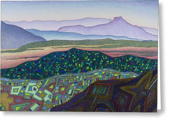 Dancing Light Of Northern New Mexico Greeting Card by Dale Beckman
