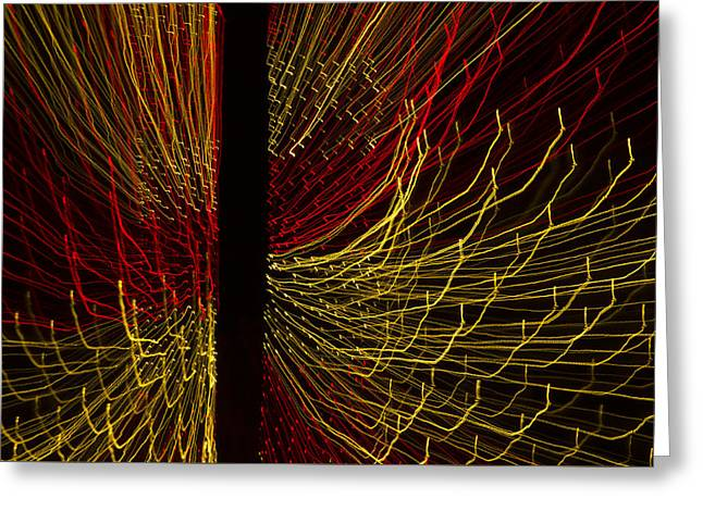 Dancing Lights 5  Greeting Card by Penny Lisowski