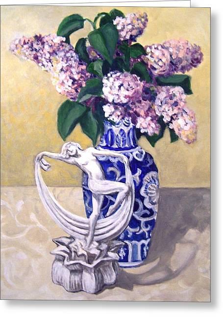 Dancing Lilacs Greeting Card