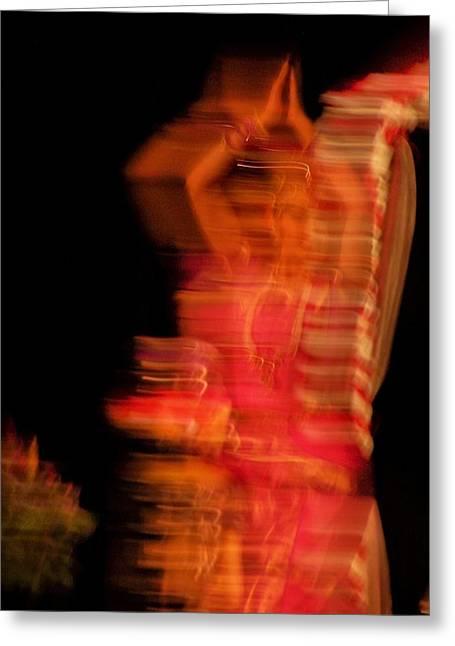 Dancing Mirage Greeting Card by Vijay Sharon Govender