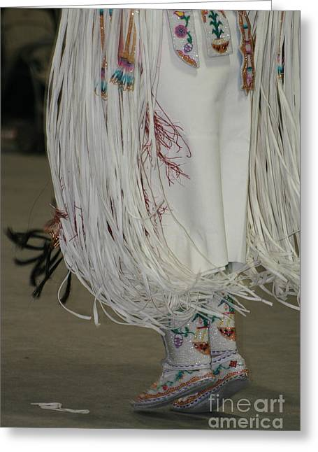 Greeting Card featuring the photograph Dancing Moccasins by Kate Purdy