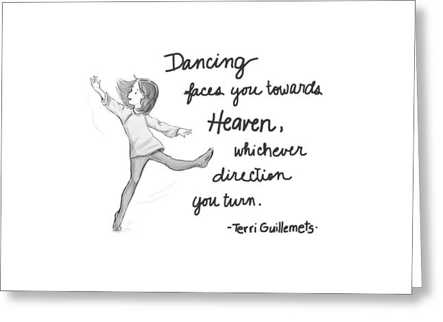 Dancing Greeting Card by Monette Pangan