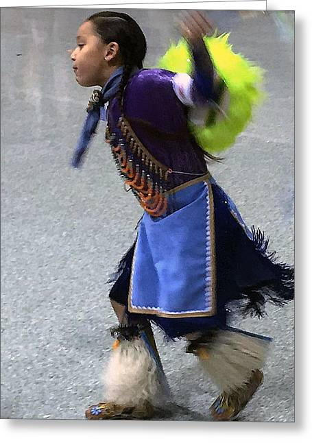 Dancing Native Child Greeting Card