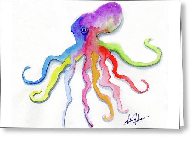 Dancing Octopus Greeting Card
