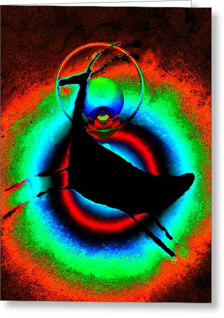 Dancing On A Full Moon Greeting Card by David Lee Thompson