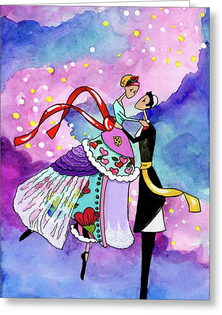 Dancing On Air Greeting Card by Dawnstarstudios