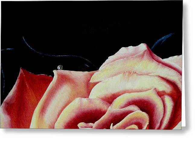 Dancing On Rose Petals Detail One Greeting Card by Ivan Rijhoff