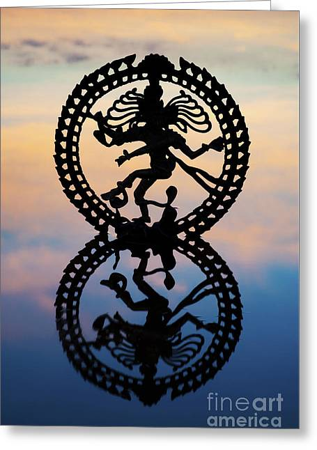 Dancing On The Sea Of Samsara Greeting Card by Tim Gainey