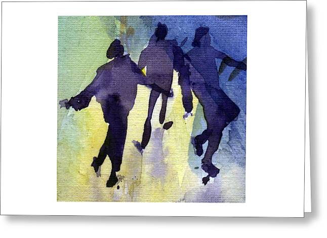 Dancing People Greeting Card by Natalia Eremeyeva Duarte