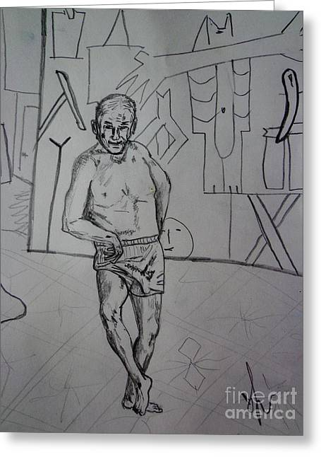 dancing Picasso sketch Greeting Card by Viktor Lazarev