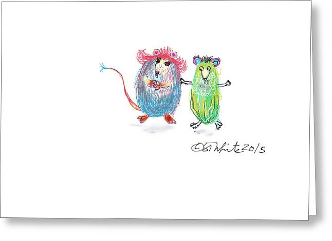Dancing Pickles Greeting Card