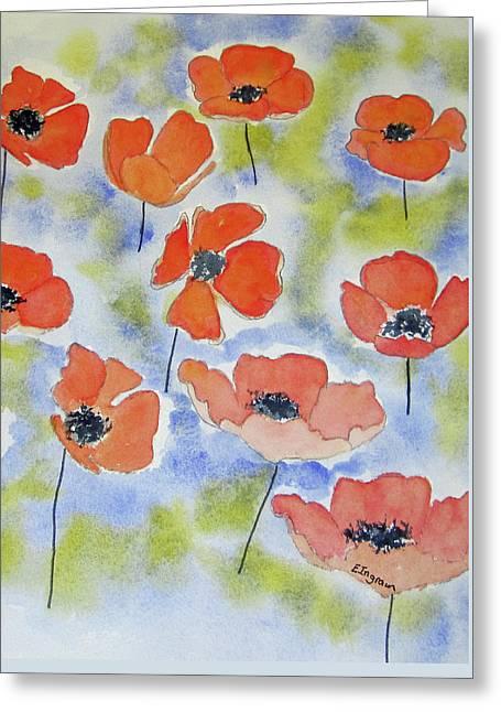 Dancing Poppies Greeting Card
