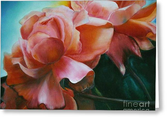 Dancing  Roses Greeting Card by Geri Jones