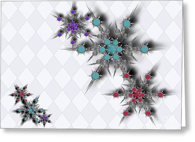 Dancing Snowflakes Greeting Card