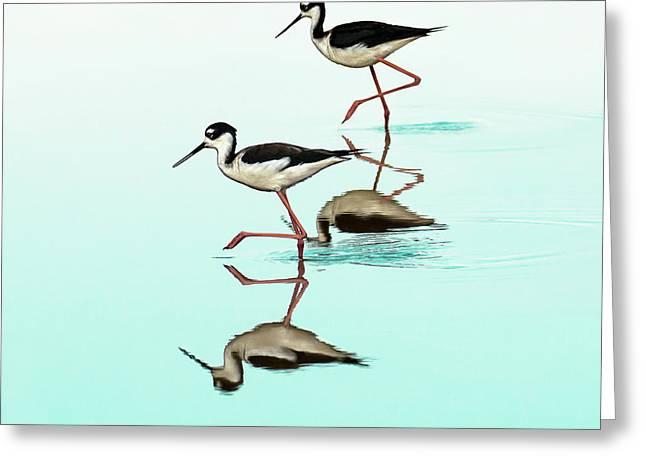 Dancing Stilts Greeting Card