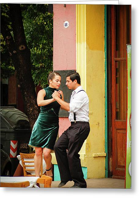 Dancing Tango Greeting Card by Silvia Bruno